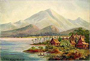 Lake Singkarak - Painting of Lake Singkarak in 1901