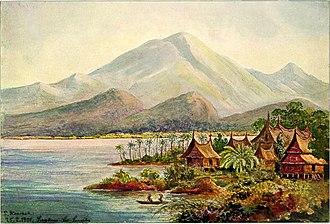 Lake Singkarak - Painting of Lake Singkarak in 1901