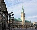 Hamburg, Rathausmarkt und Rathaus.JPG