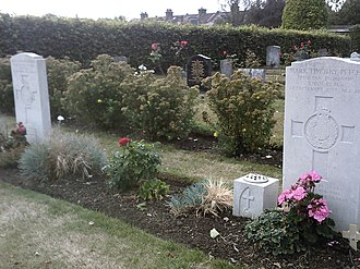 Deal barracks bombing - Image: Hamilton Road Cemetery Royal Marines Bandsmen