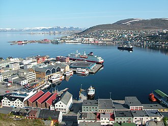 Hammerfest - View of Hammerfest in mid-June 2005