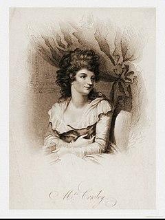 Hannah Cowley English writer, dramatist, poet (1743-1809)