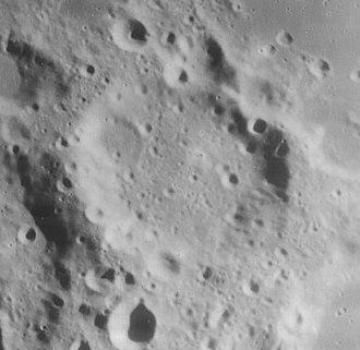 Hanno (crater) - Lunar Orbiter 4 image