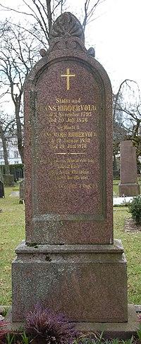 Hans Riddervold, gravminne på Vår Frelsers gravlund, Oslo.JPG