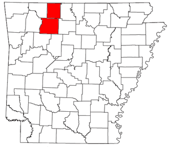 Harrison, Arkansas micropolitan area - Location of the Harrison Micropolitan Statistical Area in Arkansas