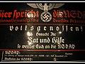 """Haustafel der NSDAP. Hier spricht die NSDAP Nationalsozialistische Deutsche Arbeiterpartei. Enamel """"house board"""" signboard for the National Socialist German Workers' Party. Parteiadler. Museum Sowjetische Speziallager. 2006.jpg"""