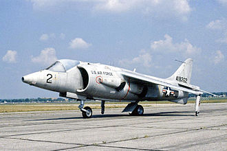 Harrier Jump Jet - Hawker Siddeley XV-6A Kestrel in later USAF markings