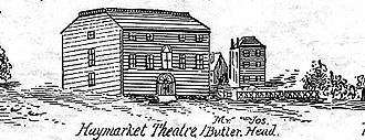 Haymarket Theatre (Boston, Massachusetts) - Haymarket Theatre, Boston, ca.1800