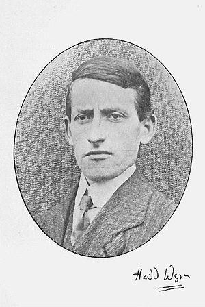 Hedd Wyn - Ellis Evans, c.1910.   Frontispiece in Cerddi'r Bugail (1918)