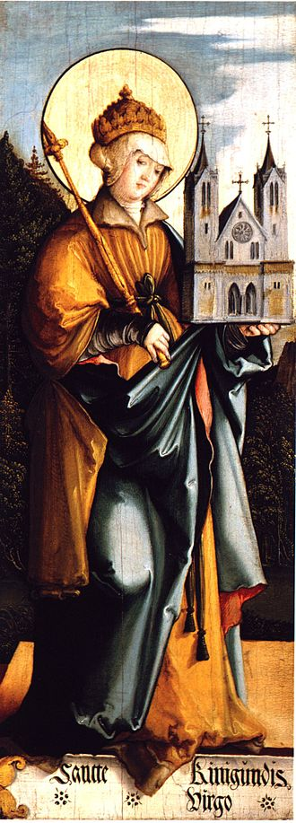 Cunigunde of Luxembourg - Saint Cunigunda; painting by the Master of Meßkirch, c.1535/40, housed at the Staatsgalerie Stuttgart.