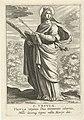 Heilige Ursula S. Vrsvla (titel op object) Vrouwelijke heiligen (serietitel) Speculum Illustratum Virginum (serietitel), RP-P-1900-A-22024.jpg
