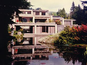 Architecture of Vancouver - Helmut Eppich house, located in West Vancouver was designed by Arthur Erickson Architects in the West Coast Style. A style popular throughout Greater Vancouver, it utilizes the environment as a part of the design.