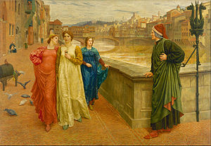 Dante and Beatrice (painting) - Image: Henry Holiday Dante and Beatrice Google Art Project