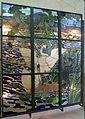Henry carot su cartone di albert besnard, vetrata con cigni sul lago d'annecy dalla casa del pittore henry lerolle a parigi, 1890, 01.JPG