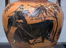 Eracle affronta il toro di Creta