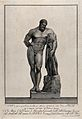 Hercules. Engraving by F. Piranesi, 1782, after T. Piroli. Wellcome V0036076.jpg