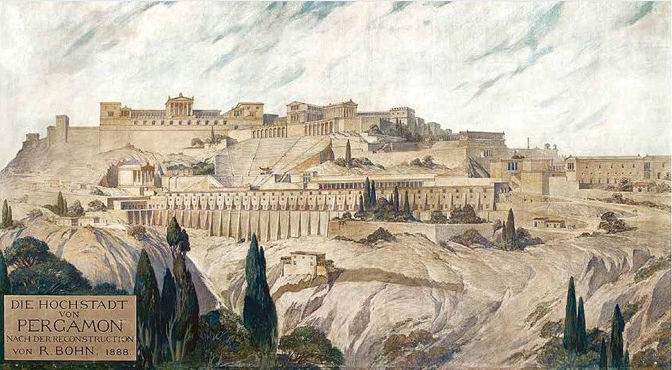 High rise view of Pergamon - R.Bohn - 1888