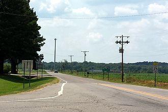 Arkansas Highway 28 - Highway 28 at its eastern terminus in Dardanelle