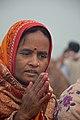 Hindu Devotee Prays To Sun - Makar Sankranti Observance - Kolkata 2018-01-14 6889.JPG