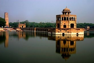 Pet cemetery - The Hiran Minar near Lahore, Pakistan was built in the early 17th century by the Mughal Emperor Jahangir in honor of his beloved pet deer.