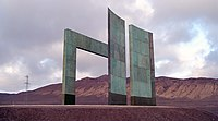 Monument marking the Tropic of Capricorn just north of Antofagasta, Chile.