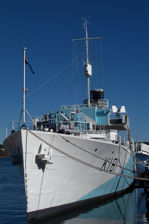 Saint John Shipbuilding - HMCS Sackville, built in Saint John in 1940, has been preserved as a museum ship.