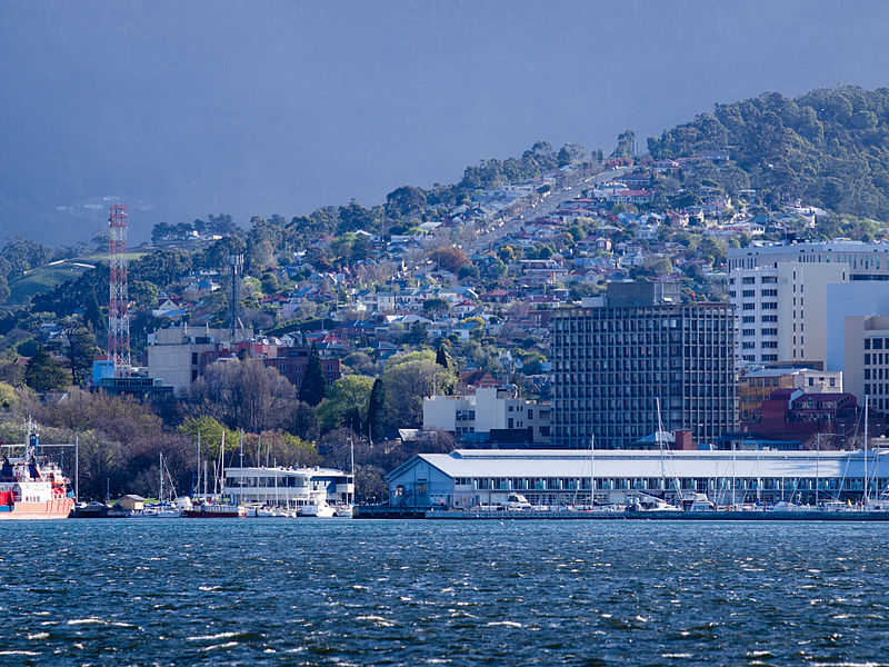 city scape where there are many businesses for sale in Hobart Tasmania