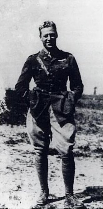 Hobey Baker - Baker as a fighter pilot in World War I. He had three confirmed kills during the war.