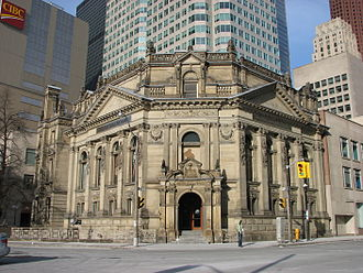 Hockey Hall of Fame - The Hockey Hall of Fame is located at the corner of Front and Yonge Streets in Downtown Toronto. The same building also houses the IIHF Hall of Fame.