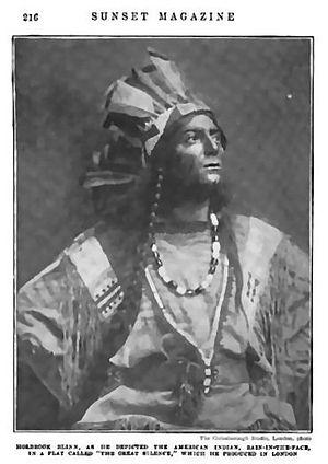 "Holbrook Blinn - Holbrook Blinn as Chief Rain-In-The-Face, in the play ""The Great Silence (Sunset Magazine, Nov. 1905 -April, 1906)"