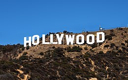 Le panneau Hollywood.