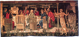 Holy Grail tapestries - Image: Holy Grail tapestry The Summons
