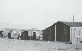 Reno-Sparks Indian Colony - Typical dwellings at the Reno-Sparks Indian Colony, early 1900s