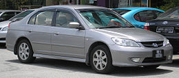 Honda Civic (seventh generation, first facelift) (front), Serdang.jpg