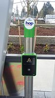 Hop Fastpass card reader at Gaiser Hall Vine station.jpg