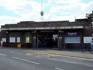 Hornchurch tube station - Entrance on Station Lane