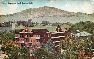 Hotel Boulderado - Hotel Boulderado postcard, sent 1909