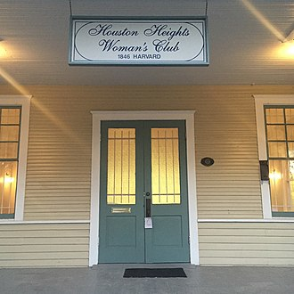 Houston Heights Woman's Club - Signage above the door