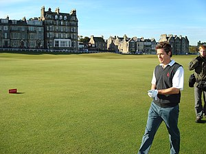 Hugh Grant during Round 2 of the 2007 Alfred D...