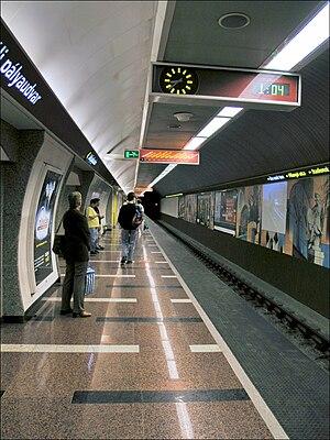 Déli pályaudvar (Budapest Metro) - Image: Hungary, Budapest Déli pályaudvar metro station 1