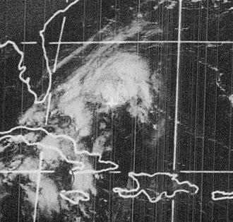1972 Atlantic hurricane season - Image: Hurricane Dawn September 4, 1972
