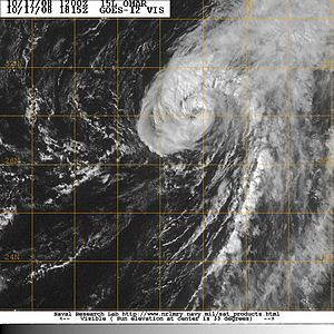 Hurricane Omar - Hurricane Omar at its secondary peak with winds of 85 mph (140 km/h)