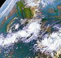 Hurricane Rick At Mexican Landfall.JPG