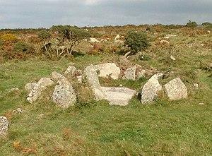 Bodrifty - Hut circle at Bodrifty