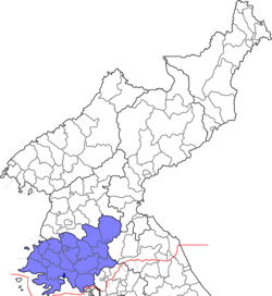 Location of Hwanghae Province