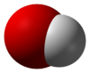 Space-filling representation of the hydroxide ion
