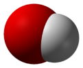 Space-fillin representation o the hydroxide ion