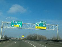 Interchange of Eastbound I-94, MN-252 and Eastbound I-694 in Brooklyn  Center, MN