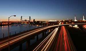 Interstate 5 in Oregon - Image: I5in Portland Night