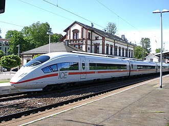 Rail transport in Germany - An ICE 3 at Sankt Ingbert
